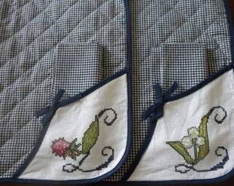 Placemats set hand embroidery