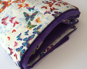 Quilted Butterfly Baby Blanket