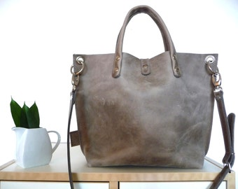 Leather bag, leather bag, leather bag, leather bag, leather bag, leather bag, leather bag, leather bag, Lou! Small leather shopper, grey!