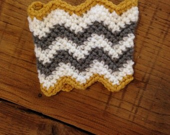 Crochet Chevron Coffee Sleeve