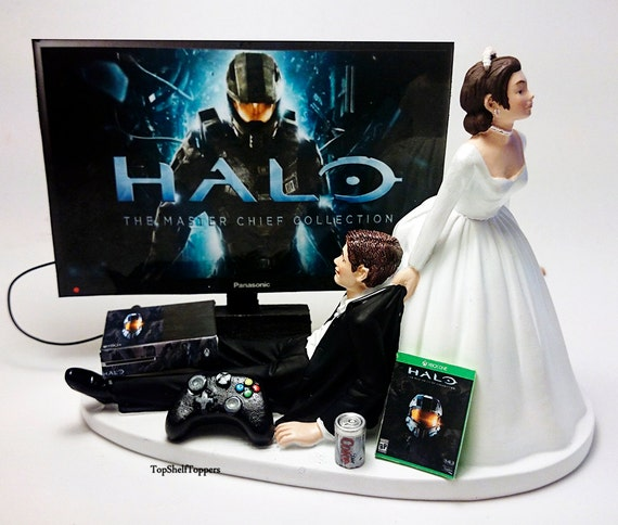 xbox wedding cakes wedding cake topper custom master chief xbox one 27676