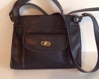 Black pleather Denver Hayes purse