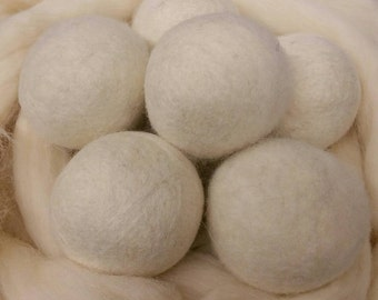 Wool Dryer Balls - 50 Large Natural Wool Dryer Balls - Great For Cloth Diapers - Felt Dryer Balls - Wholesale - Co-op