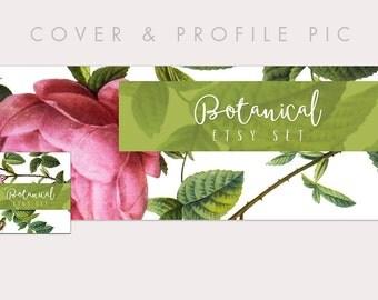 Botanical Wood Timeline Cover + Profile Picture | Botanical Suite | Cover, Profile Picture, Branding, Web Banner, Blog Header