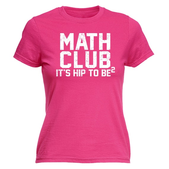 123t Slogan Women's Math Club It's Hip To Be Square - Fitted T-Shirt ...
