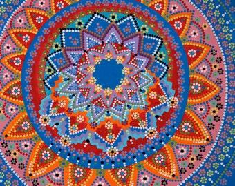 Dot Art Mandala Painting 12 x 12