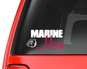 Marine Mom (M35) Vinyl Decal Sticker Car/Truck Laptop/Netbook Window