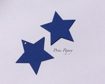 Blue Star Gift Tags Wish Tree Tags Name Tags Set 32