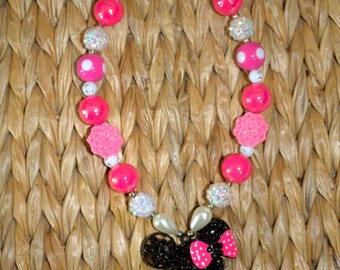 17 inch Minnie Mouse Rhinstone Necklace