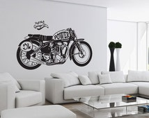 Classic Motorcycle Power Wall Decal Sticker vinyl Wall Art ETWD-0799