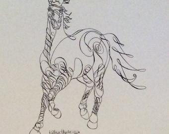 HORSE ART/ Calligraphy Stallion