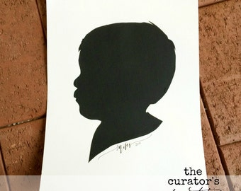 Hand Cut Custom Silhouette Portrait