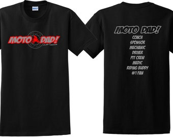 MOTO DAD T Shirt Motocross Just Ride MX Dirt Bike Father Motorcycle