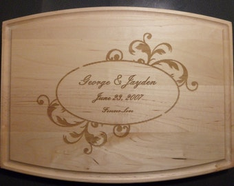 Personalized Customer Maple Cutting Board for Kitchen Wedding Anniversay Birthday Christmas Valentine's Day Gift
