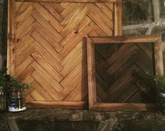 Herringbone Wood Wall Art