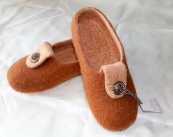 Felt Slippers handmade Warm winter. Handmade Slippers. Eco-friendly wool Slippers. Men's Slippers. Felted Slippers.