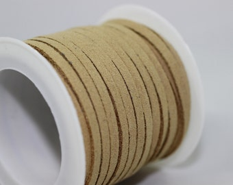Khaki Faux Suede Cord, 5mt/ 10mt/ 20mt/ 50m Faux Suede Cord, Jewelry Cord for Jewelry Accessories
