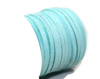 Turquoise Faux Suede Cord, 5mt/ 10mt/ 20mt/ 50m Faux Suede Cord, Jewelry Cord for Jewelry Accessories