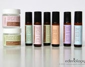 Custom Essential Oil Labels for Roller Bottles, Spray Bottles, Salve Jars - Full Sheet