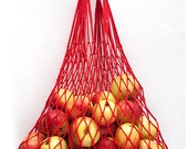 Red bag is from natural material, shoulder bag, string - bag mesh bag, made by hand 100% eco bag, amazing product for you.