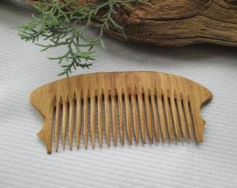 Oak wood hair comb.Handmade.