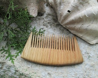 Natural oak hair comb,handmade.