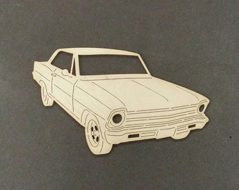 1967 CHEVY NOVA Car Wall Art(Birch Wood)