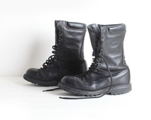 Vintage Men's Size 8 Black Leather Combat Boots