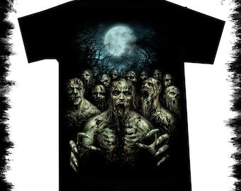 t shirt zombie night