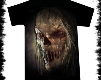 t shirt zombie face