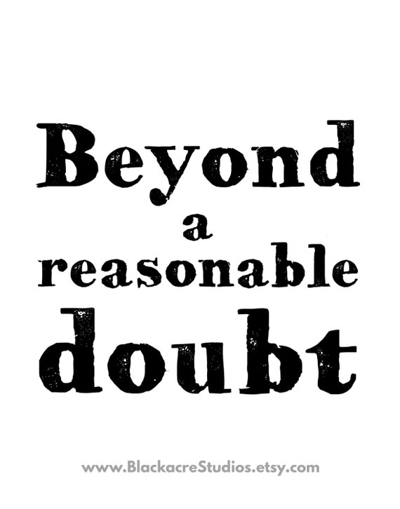proof beyond a reasonable doubt 35 reasonable doubt—defined proof beyond a reasonable doubt is proof that leaves you firmly convinced the defendant is guilty it is not required that the government prove guilt beyond all possible doubt.