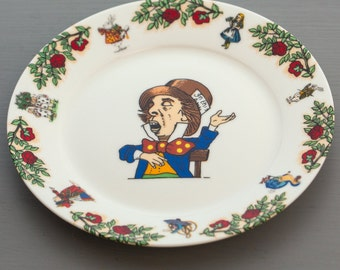 Mad Hatter Tea Plate from The Alice In Wonderland Tea Set