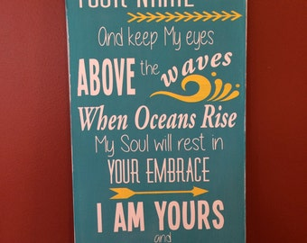 Oceans Typography Sign