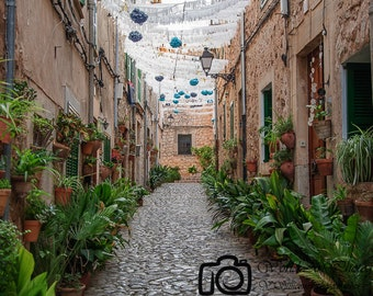 Valldemossa street, Palma de Mallorca, Canvas photo, Canvas print, Canvas art, Gallery wrap, Photo print, Home decor, Art decor, Room decor