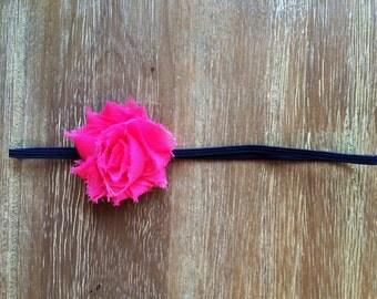 Navy and Pink headband, navy and hot pink headband, navy and pink baby headband, newborn headband, navy headband, pink baby headband, baby