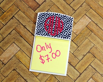 Monogrammed Post-it Note Holder - Pick your design