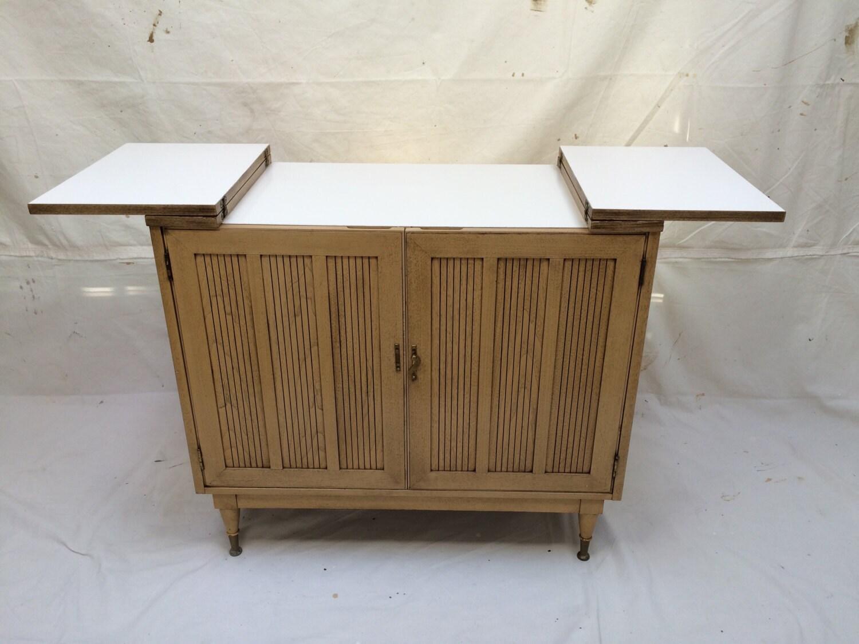 bar cart cabinet buffet server cabinet credenza pickled walnut
