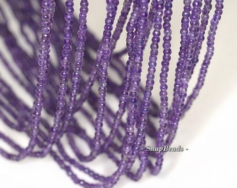 2mm Royal Amethyst Gemstone Grade AAA Deep Purple Faceted Round Loose Beads 15.5 inch Full Strand BULK LOT 1,2,6,12 and 50 (90143440-107-2g)