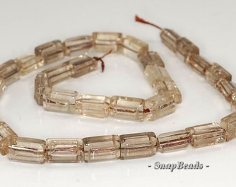 12x8mm Smoky Quartz Gemstone Rectangle Loose Beads 7 inch Half Strand BULK LOT 1,2,6,12 and 50 (90191368-8)