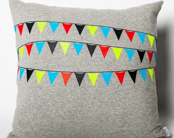 Cushion gray Jersey flags for kids