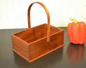 Shaker Inspired Wood Box / Basket Sapele
