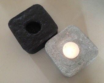 Candleholder in concrete. Concrete candle holder