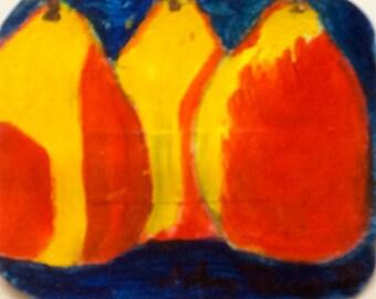 """Trio, 4.5"""" x 5.5"""", Original Fine Art Oil Painting"""