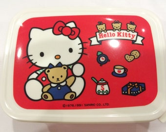 Vintage Hello Kitty lunch box 1991 Sanrio made in Japan