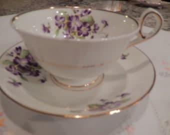 ENGLAND OLD ROYAL Teacup and Saucer