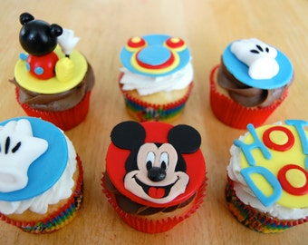Mouse Cupcake Toppers (100% Edible)