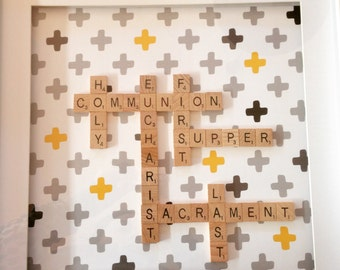 Holy Communion Scrabble Frame