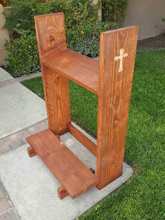 Reclaimed Wood Prayer Kneeler Wesley Kneeler Kneeler Big