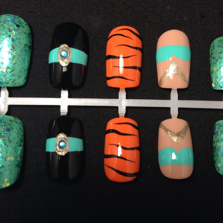 Princess Jasmine Nails: Princess Jasmine Inspired Nail Spine From DesignedbyCucu