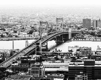 Ben Franklin Bridge Philadelphia Aerial Photo